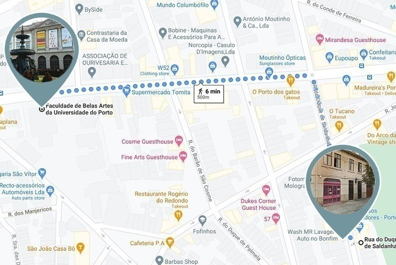 Walking distance to the university