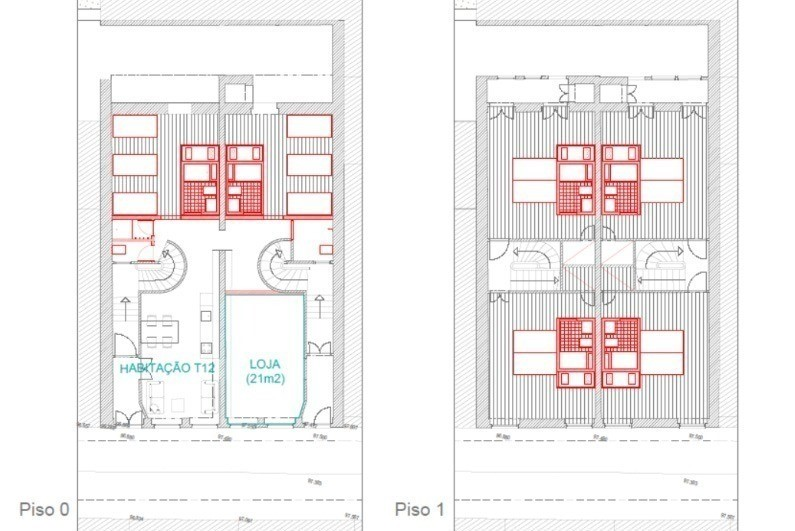 Ground and first floor construction plan